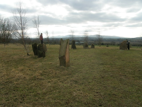 High Head Stone Circle by Brain Cowper, with added children