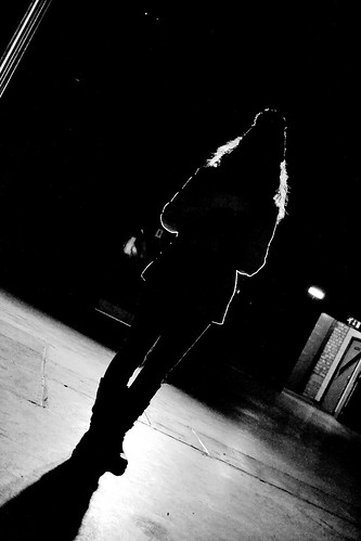 Silhouette in Upper Campfield Market Hall by Angela Seager