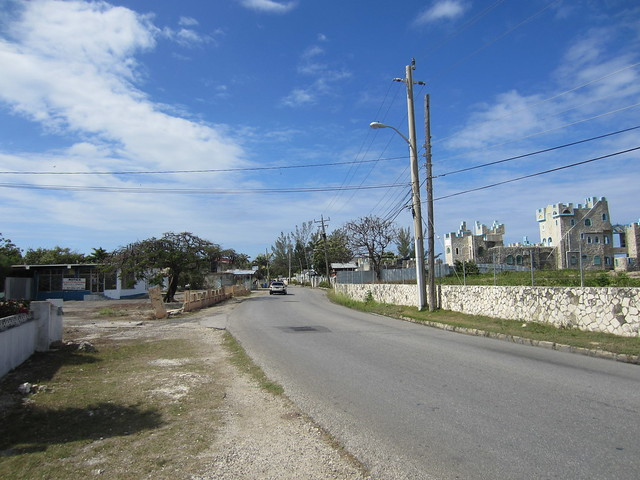 Walking on the road in Negril