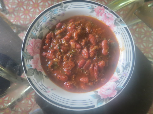 Slow cooked hickory smoked chili