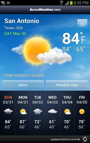 nice and warm