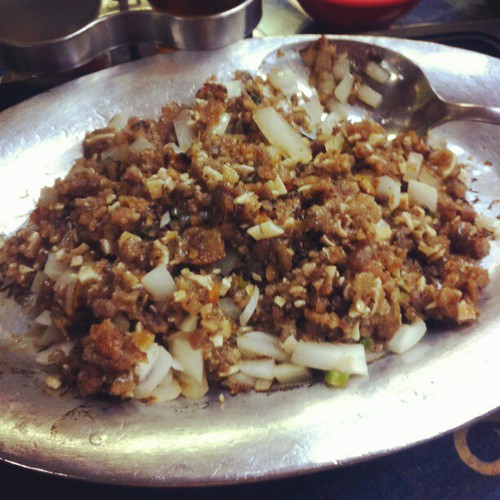 A taste of pork sisig in #NewYork #foodporn #iPhone