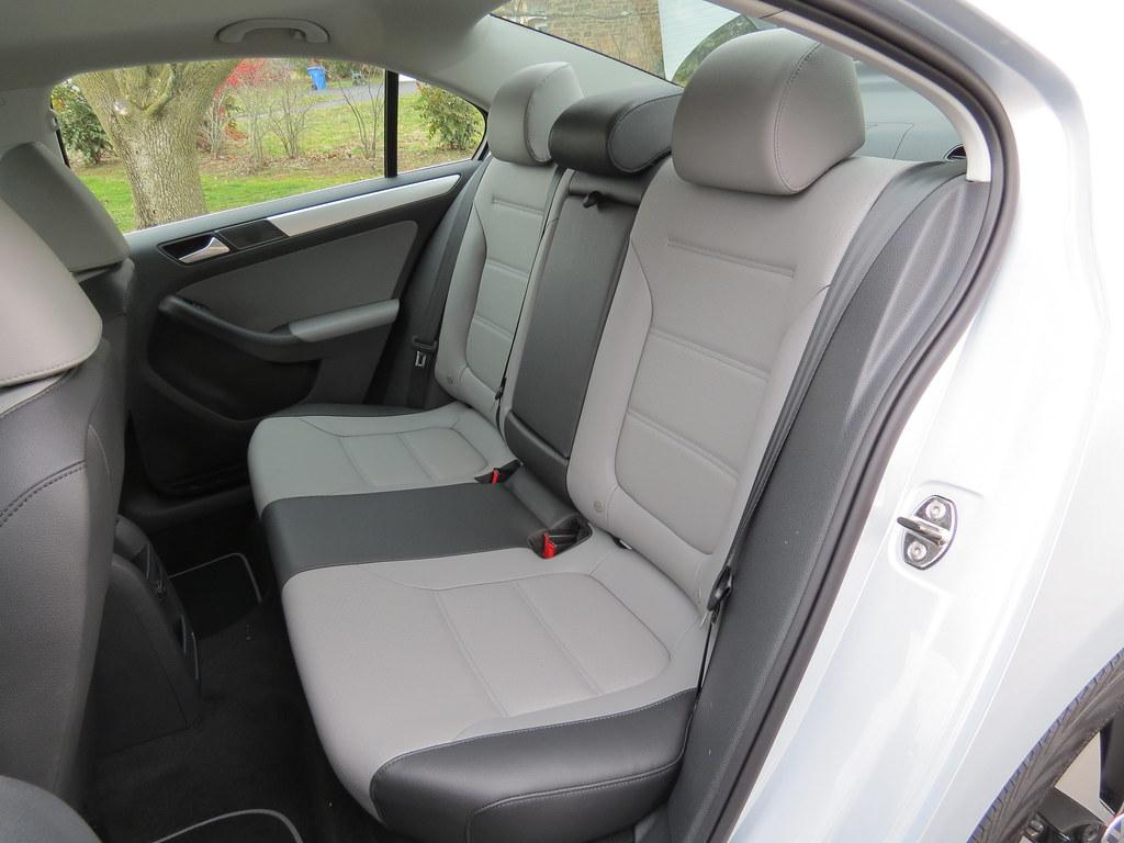 VW Jetta Hybrid back seat