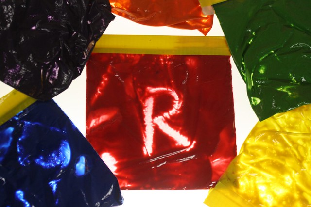r is for rainbow bags