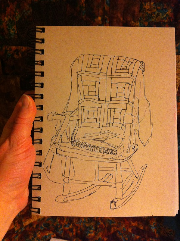 076:365 Rocking Chair with Quilt