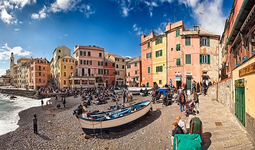 Boccadasse, Genova, Italia - Panoramic