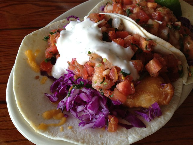 Baja fish taco - South Beach Bar & Grille