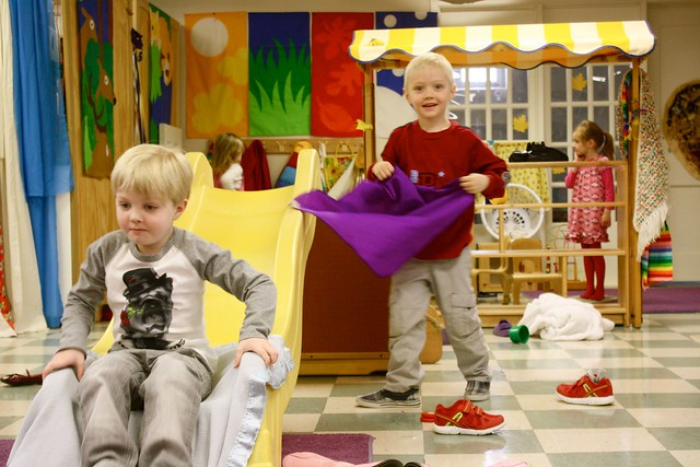 indoor preschool slide!