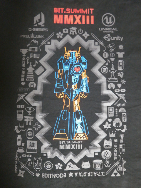 BitSummit T-shirt back