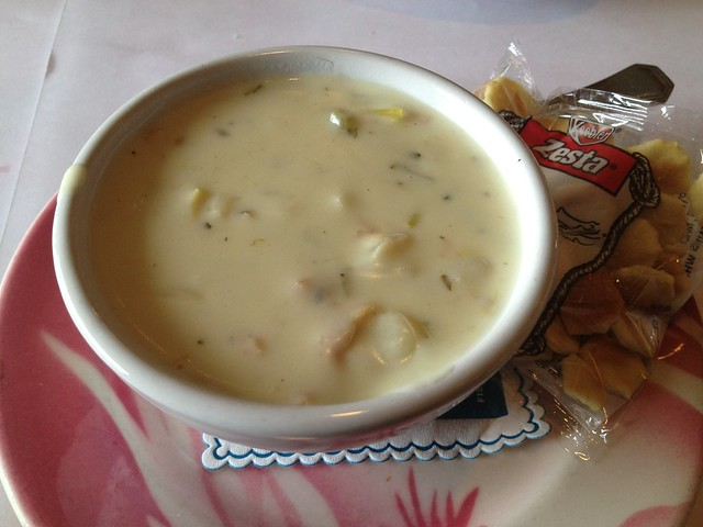 Boston clam chowder - Fishermen's Grotto