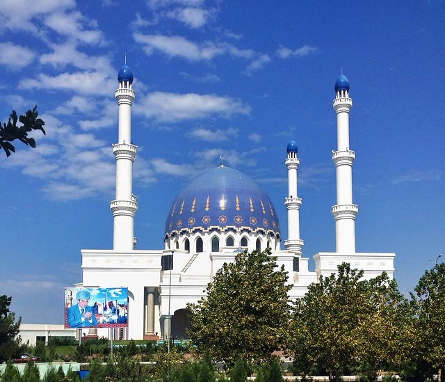The Gurbanguly Haji Mosque in Mary Turkmenistan