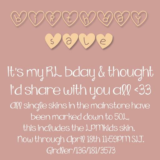 Birthday Sale AD