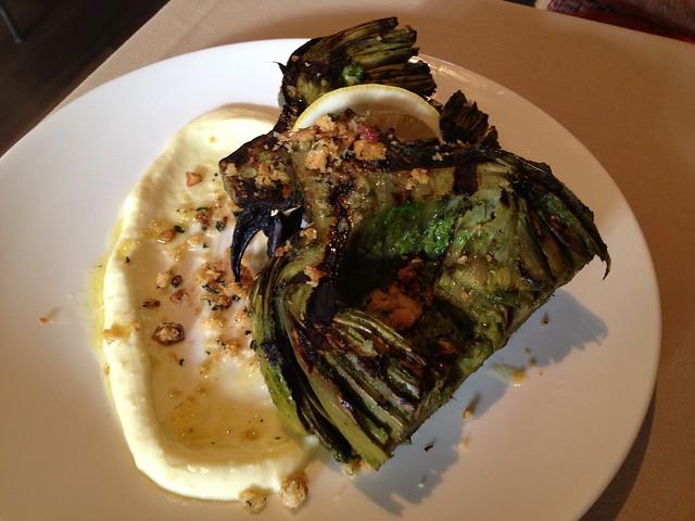 Grilled jumbo California artichoke - Fable
