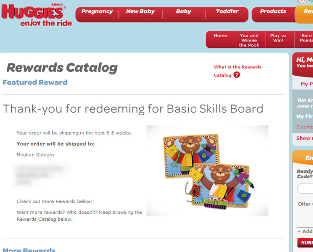 HUGGIES REWARDS
