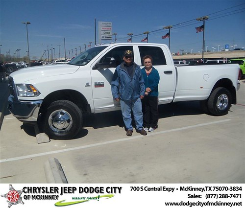 Dodge City of McKinney would like to say Congratulations to Luis Adrian on the 2012 Dodge Ram by Dodge City McKinney Texas