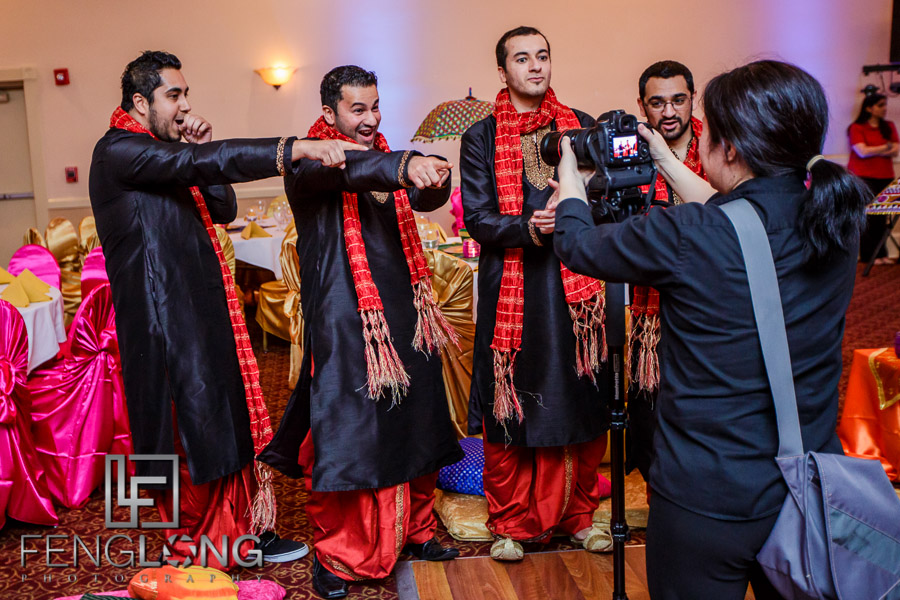 Guests during Indian wedding