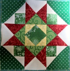 Jingle pieced block 8