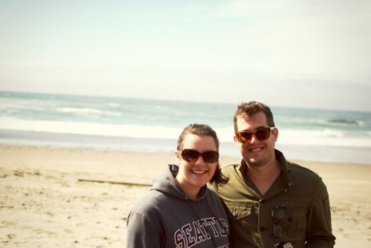Grace & Joel at the Oregon Coast