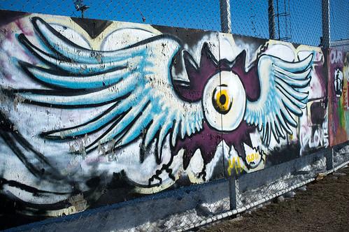 Graffiti fence in Rovaniemi, Lapland