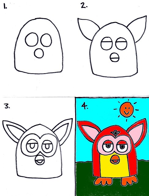 Kids Art: Drawing a Furby
