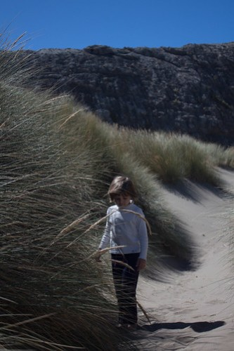 Walking in the sand dunes