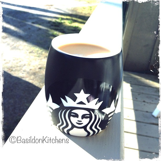 May - 4 in my cup {COFFEE!} Enjoying my morning cup on the porch in the spring sun ☕