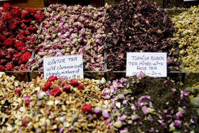lovely teas for sale in the spice market
