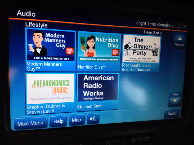 Freakonomics Radio on a United flight :)