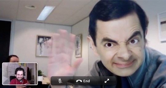 Facetiming with Mr. Bean