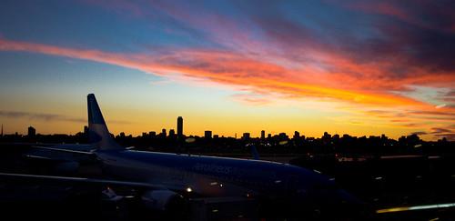 Atardecer aeropuerto de Buenos Aires