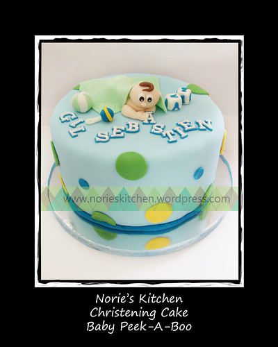 Norie's Kitchen - Christening Cake - Baby Peek-A-Boo by Norie's Kitchen