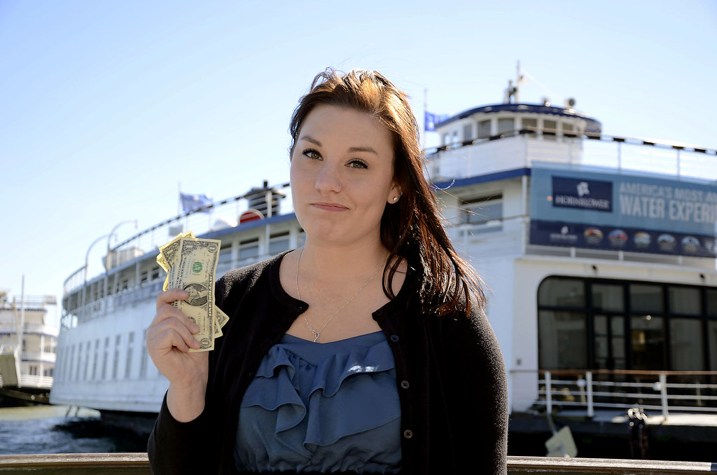 Lea Lunden, a psychology major, says the price is too high, at 85 dollars per ticket, for her and her family to attend her department's graduaton celebration that will be held on the Hornblower— a local yacht in San Francisco. Photo by Virginia Tieman / Xpress