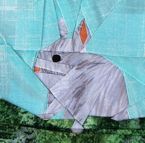 Bunny block for Sandy... by ruthiequilts