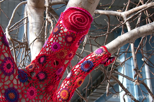 Yarn Bombing al Porto Antico
