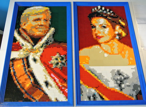 Portraits of the new king and queen of the Netherlands