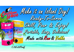 Caribbean Wave Post Card