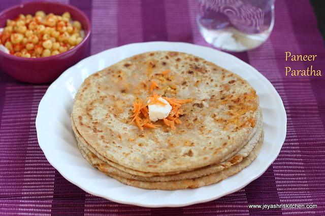 carrot paneer paratha 2