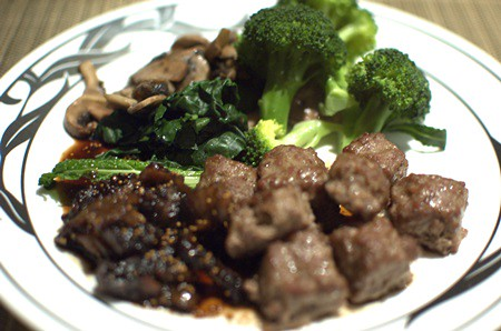 Spiced lamb meatballs with balsamic-fig compote from Practical Paleo