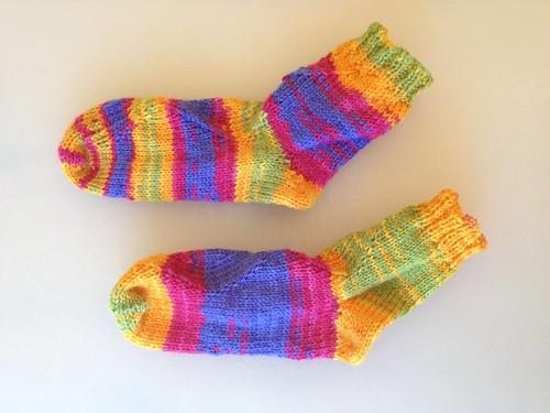 Cassie's Kalajoki Socks, side view