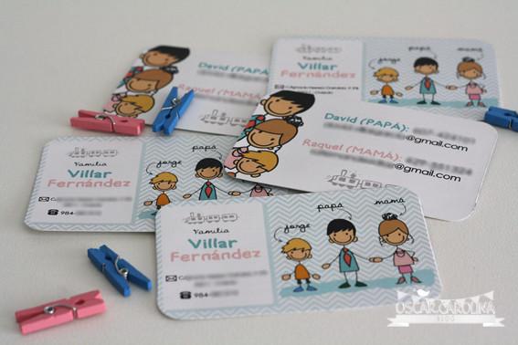 tarjetas de visita familiares