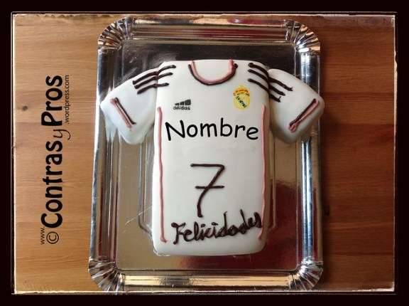 Tarta camiseta Real Madrid