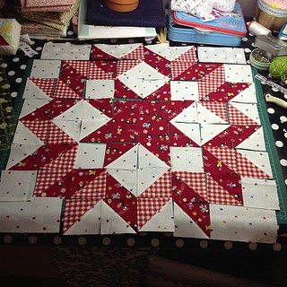 Carpenter Star for a pillow case. #isew #craft #gift #maybe