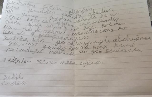 Şebile'nin yeni mektubu!