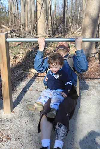 Leesylvania Park - Sagan 'Helps' Ryan Do Reverse Pushups