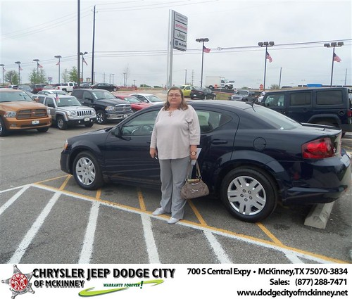 Dodge City of McKinney would like to say Congratulations to Brenda Killian on the 2013 Dodge Avenger by Dodge City McKinney Texas