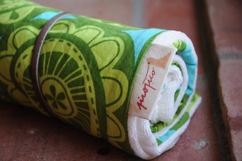 muda-fraldas verde, lima, turquesa