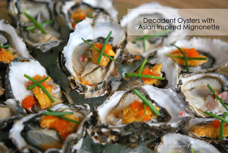 Decadent Oysters with Asian inspired Mignonette