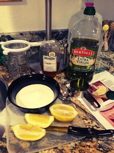 Honey & Lemon scrub making