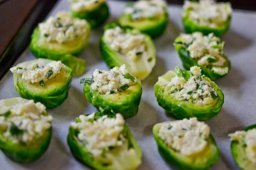 Brussels Sprouts Stuffed with Cheese-5