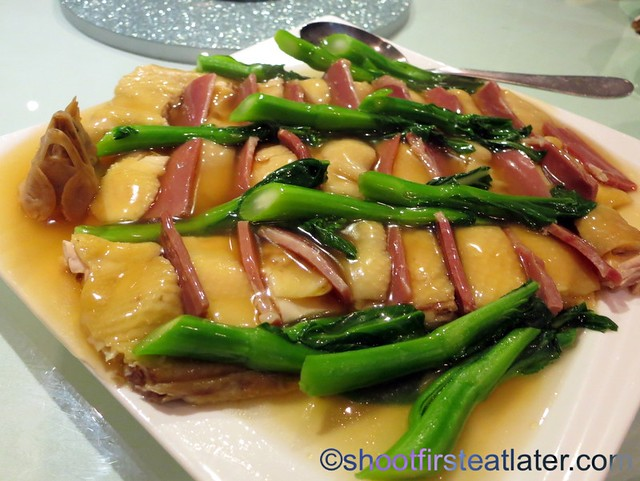 steamed chicken with Chinese ham